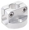 RS PRO Round Tube, Square Tube Base Clamp,
