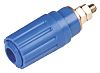 4MM PANEL SOCKET,BLUE,35A,60VDC,CAT I