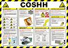 RS PRO COSHH Safety Guidance Safety Poster, Semi