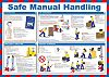 RS PRO Safe Manual Handling Guidance Safety Poster,