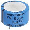 KEMET 0.1F Supercapacitor EDLC -20 → +80% Tolerance,