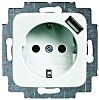 Toma eléctrica Busch Jaeger - ABB, Blanco Interior, 16A, IP20 250V