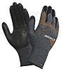 Ansell ActivArmr, Black Nitrile Coated Work Gloves, Size