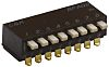 8 Way Surface Mount DIP Switch SPST, Side