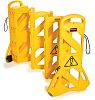 Rubbermaid Commercial Products Yellow Mobile Barrier, Extendable Barrier
