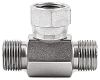 Parker Hydraulic Tee Threaded Adapter 4S6MK4S, Connector A