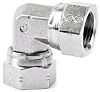 Parker Steel Zinc Plated Hydraulic Elbow Threaded Adapter,