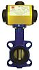 RS PRO Pneumatic Actuated Butterfly Valve Nitrile Liner,