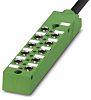 Phoenix Contact SACB-10/3-L-10.0PUR-M8 Series M8 Sensor Box, 10