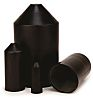 3M End Cap Black, Polyolefin Adhesive Lined