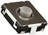Grey Push Plate Tactile Switch, SPST 20 mA