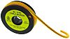 """RS PRO Slide On Cable Marker, Pre-printed """"A"""" ,Black on Yellow ,3.5 → 7mm Dia. Range"""