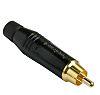 Amphenol Black Cable Mount RCA Plug, Gold