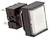 Omron, A16 Illuminated White Rectangular Push Button, DPDT-NO/NC,