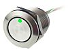 Push Button Touch Switch, Momentary, NO ,Illuminated, Green,