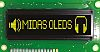 Midas Yellow OLED Display 100 x 16 COB