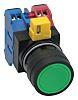Idec, IDEC HW Non-illuminated Green Round Push Button,