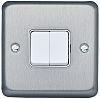 Chrome 10 A Flush Mount Plate Light Switch,