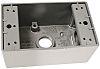 PASS & SEYMOUR Grey Aluminium Back Box, Panel