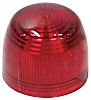 Indicator Lens Domed Style, Red, 23.6mm diameter ,