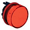 Indicator Lens Round Style, Red, 23.5mm diameter ,