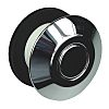 RS PRO Chrome Air Switch Push Button, Dia.