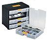 RS PRO 4 Drawer Storage Unit, PP, 334mm