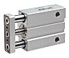 SMC Pneumatic Guided Cylinder 6mm Bore, 10mm Stroke,