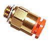 SMC Pneumatic Straight Threaded-to-Tube Adapter, NPT 1/4 Male,