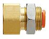 SMC Pneumatic Straight Threaded-to-Tube Adapter, NPT 3/8 Male,