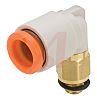SMC Pneumatic Elbow Threaded Adapter, UNF 10-32 Male