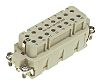 HARTING Han E Heavy Duty Power Connector Insert, 10 contacts, 16A, Male