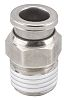 SMC Pneumatic Straight Threaded-to-Tube Adapter, NPT 1/8 Male,