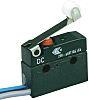 SPDT Roller Microswitch, 100 mA @ 250 V