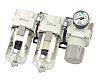 SMC NPT 1/4 Air Filter Regulator Lubricator, -5