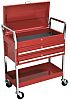 RS PRO 2 drawer WheeledTool Trolley, 985mm x