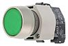 Illuminated Push Button Switch, IP65, Green, Panel Mount,