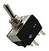 Arcolectric DPDT Toggle Switch, On-Off-On, Panel Mount