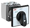 ABB, DPST 3 Position 45° Rotary Switch, 25A