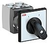 ABB, DPST 2 Position 60° Rotary Switch, 25A