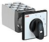 ABB, DPST 4 Position 30° Rotary Switch, 25A