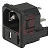 Schurter C14 Snap-In IEC Connector Male, 10.0A, 250.0