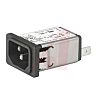 Schurter,3A,250 V ac Male Snap-In Filtered IEC Connector