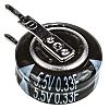 Panasonic 0.22F Supercapacitor EDLC -20 → +80% Tolerance, SD 5.5V dc, Through Hole