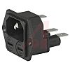 Schurter C14, C18 Panel Mount IEC Connector Male,