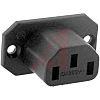 Schurter F Panel Mount IEC Connector Socket, 10.0A,