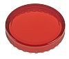 Red Round Flat Push Button Indicator Lens for