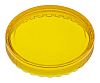 Yellow Round Flat Push Button Indicator Lens for