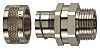 Flexicon FSU Series M25 Straight Cable Conduit Fitting, 25mm nominal size