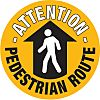 RS PRO Self-Adhesive Attention - Pedestrian Route Hazard